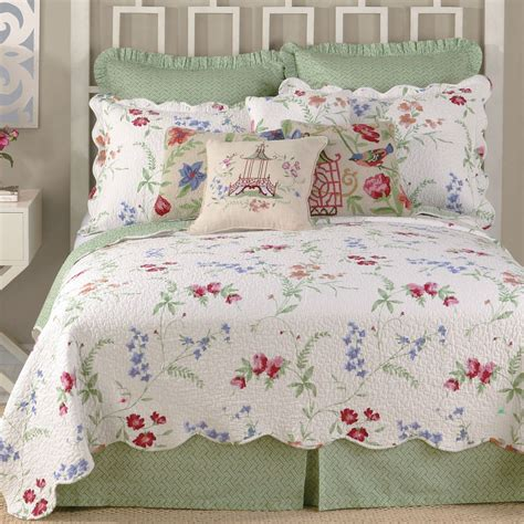 bed quilt marinella cotton floral quilt bedding