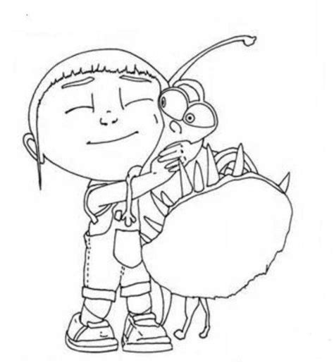 agnes unicorn coloring page despicable me margo edith and agnes coloring pages
