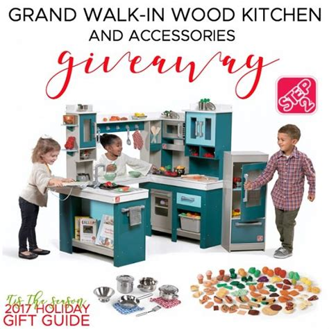 Giveaway Kitchen - step2 grand walk in wood kitchen giveaway ends 12 13