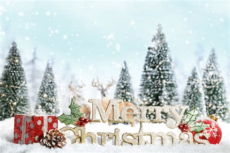 merry christmas christmas tree snow snowflake new year