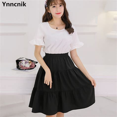 ynncnik 2017 new korean dress patchwork sleeve summer dresses fashion brief style