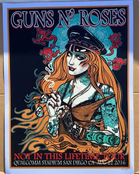 Guns N Roses 44 tour lithographs and show specific artwork page 44