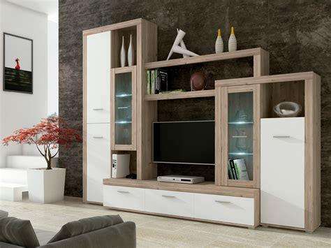 muebles salon comedor comedor en ceniza y blanco modular en alto brillo de oferta
