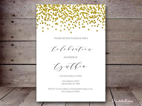 Bridal Shower Invitations Printabell Create Glitter Invitation Template