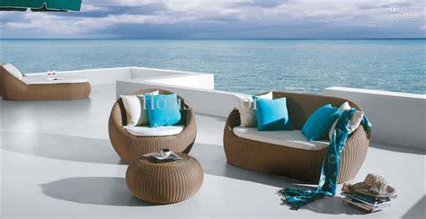 Rattan outdoor sofa rattan garden furniture wayfair co uk thesofa