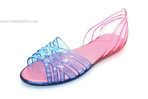 everpal shoes wholesale slippers flip flops sandals garden clogs jelly sandals open toe pvc jelly shoes for lady jelly