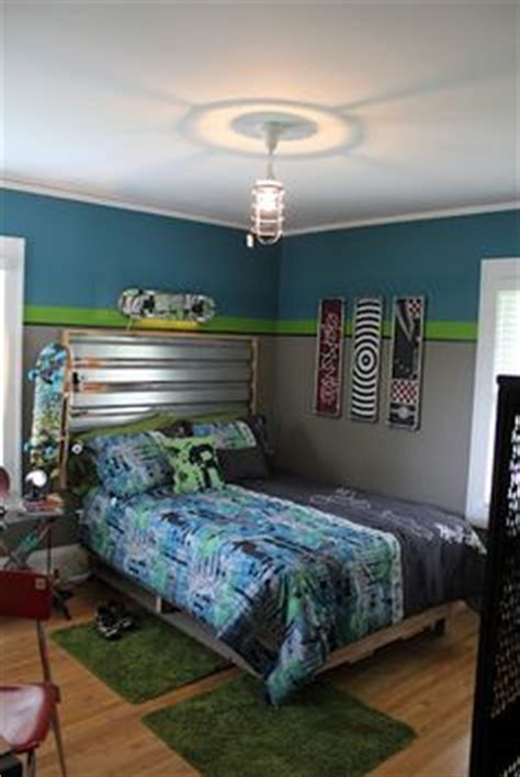 skateboard themed bedroom northern nesting striped accent wall i ve already