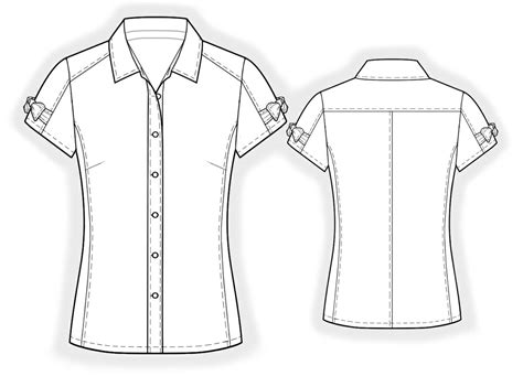 Drawing Blouse blouse sewing pattern 4002 made to measure sewing pattern from lekala with free