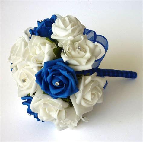 Blue Wedding Bouquets by Royal Blue Bridesmaid Bouquet Artificial Bridesmaid