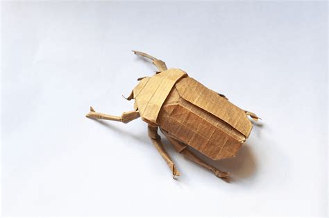 Origami Beetle - 24 incredibly realistic looking origami insects