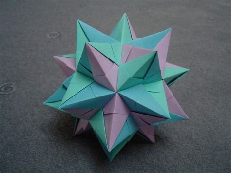 how to make 3d star and balls modular origami spiky balls and stellated polyhedra models abstract sculpture proj 3d