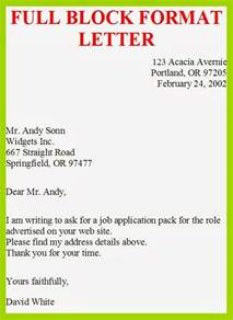 Cover Letter Format Address Block Business Letter Template Block Style Sle Business Letter