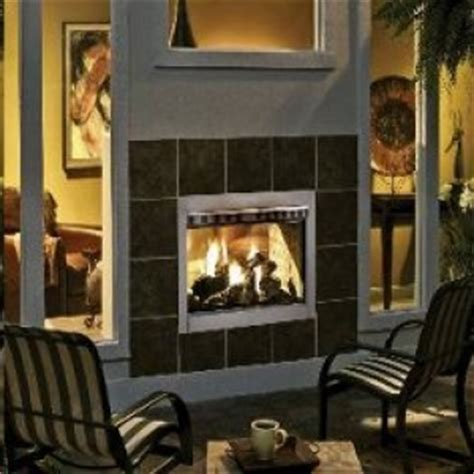 Two Sided Indoor Outdoor Gas Fireplace by Indoor Outdoor Fireplace Sided 2015 House Design