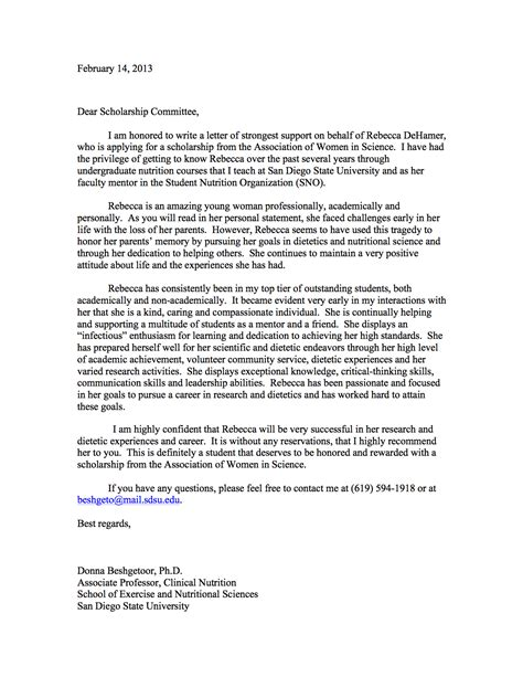 Letter Of Recommendation For Research Scholarship Essay Editing
