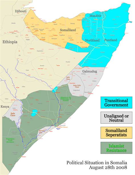 somalia on world map somalia civil war