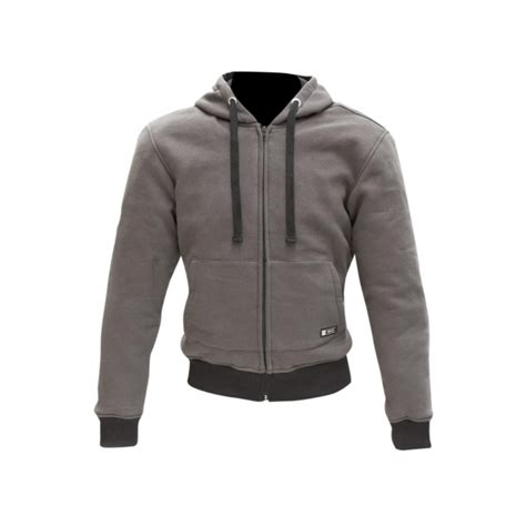 Hoodie Jumper Sweater Jaket Yamaha Nmax merlin motorcycle hoody hamlin water repellent kevlar ce armour zip up jumper jacket grey