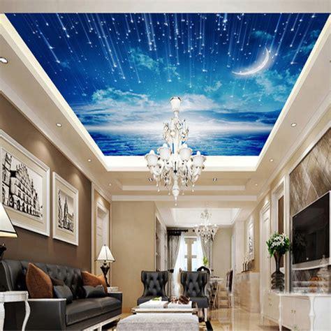 photo wallpaper blue sky wallpaper mural ceiling living