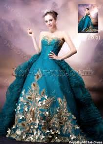 blue and gold wedding dress blue and gold luxury wedding dress 1st dress
