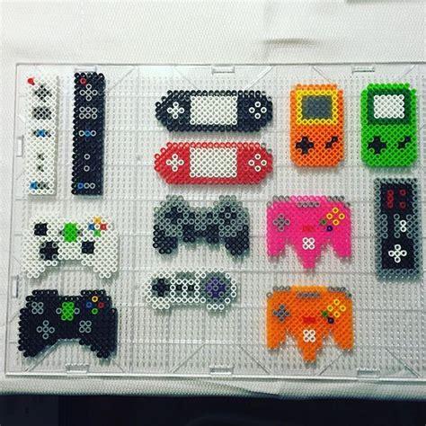 pattern jeu video gaming controllers perler beads by jake tastic perler