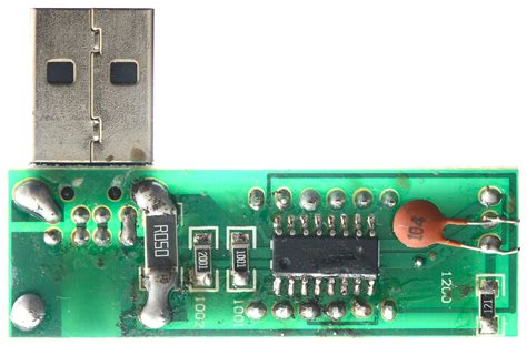 resistors function circuit board test of usb charge doctor