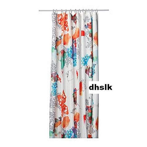 Bold Shower Curtains Ikea Tallholmen Bold Flowers Fabric Shower Curtain Orange Turquoise Pink