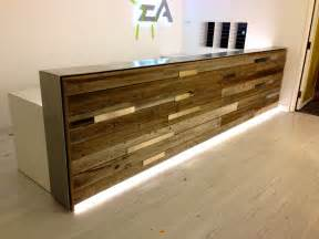 Wood Reception Desk Reclaimed Wood Reception Desk Estudio Reception Desks Desks And Woods