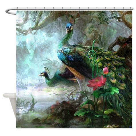 curtain paintings beautiful peacock painting shower curtain by