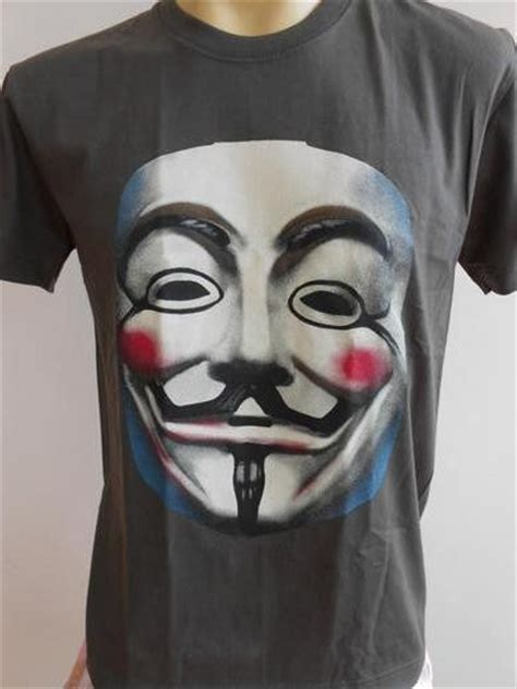 anonymous mask tattoo vendetta anonymous mask retro t shirt ebay