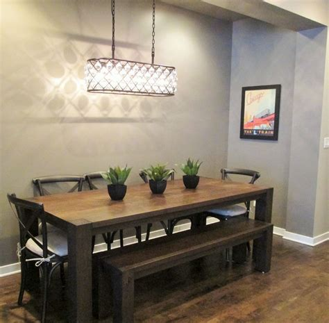 chicago modern rustic modern dining room chicago