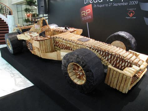 How To Make A F1 Car Out Of Paper - whatthecool size f1 car made out of bread