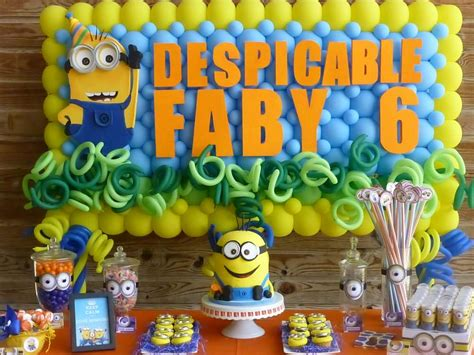 Minions birthday party ideas photo 1 of 39 catch my party