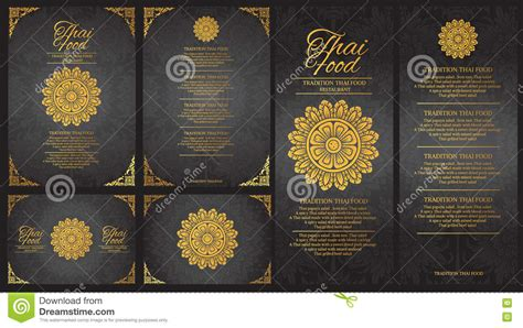 vector thai food restaurant menu template thai tradition