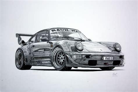 Rwb Porsche 964 Pencil Drawing By Pavee12120 On Deviantart