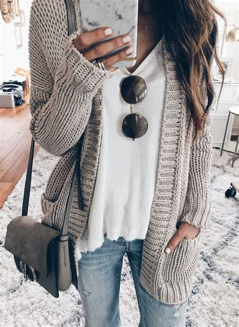 knit outfit grey cardigan white knit new style in 2019