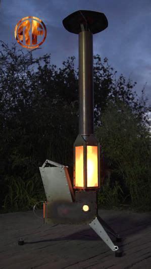 raketenofenmitlaternehut feuerstelle garten