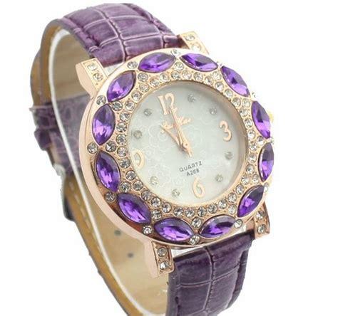 Jam Tangan Wanita Dziner 6 jam tangan wanita quartz berlian keren mewah jw080 pink