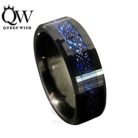 queenwish mm blue black silvering celtic dragon tungsten