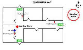 Evacuation Floor Plan by Emergency Evacuation Map Template Floor Plan Template