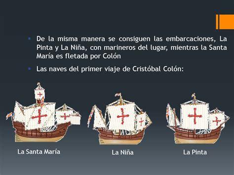 cuales fueron los barcos de cristobal colon los viajes de col 211 n ppt video online descargar