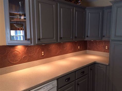 Kitchen Cabinets And Backsplash Hometalk Diy Kitchen Copper Backsplash