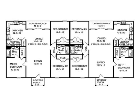 Unique Duplex Plans by Multi Family House Plans Webbkyrkan Webbkyrkan