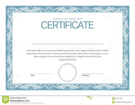 modern certificate template certificate modern template diplomas currency stock
