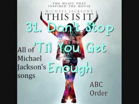michael jackson abc song list of all michael jackson songs part 1 abc order doovi