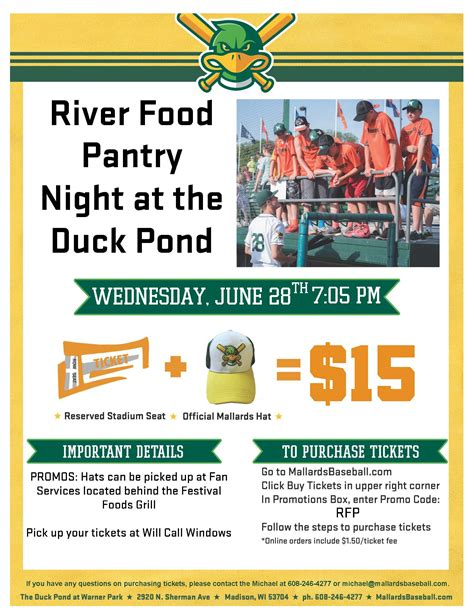 get your tickets the river food pantry