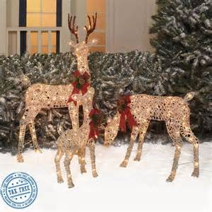 outdoor christmas deer lighted yard decoration set of 3