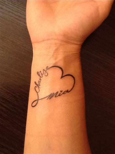 tattoo artist name ideas infinity heart with my two daughters names tatuaje