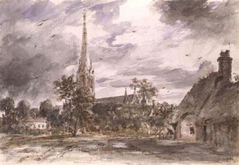 by john constable salisbury cathedral salisbury cathedral with cottages oil by john constable