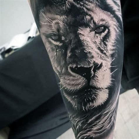 forearm lion tattoo 50 realistic designs for felidae ink ideas