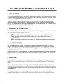 free workplace policy template workplace violence prevention policy template sle