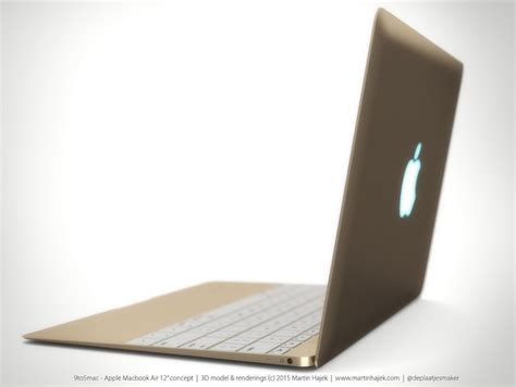 Macbook Air 12 Inch Gold upcoming ultra thin 12 inch macbook air design imagined in